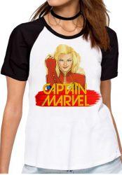 Blusa Feminina Capitã Marvel