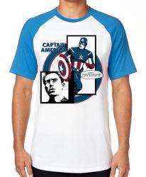 Camiseta Raglan Capitão América Computer