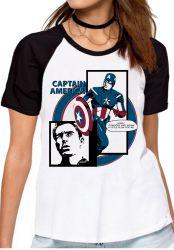 Blusa Feminina Capitão América Computer