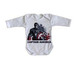Roupa Bebê manga longa Capitão América Desintegrando