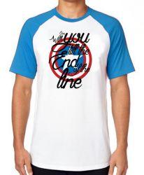 Camiseta Raglan Capitão América Escudo End Line
