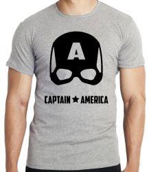Camiseta Capitão América  Máscara Black