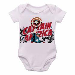 Roupa  Bebê   Capitão América  Super Herói