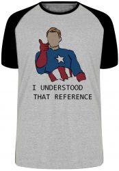 Camiseta Raglan  Capitão América  entendi a referência