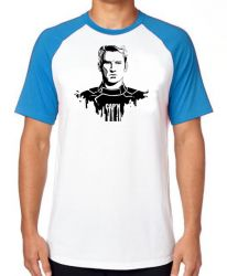 Camiseta Raglan   Capitão América  Steve