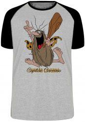 Camiseta Raglan Capitão Caverna