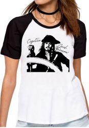 Blusa Feminina Capitão Jack Sparrow
