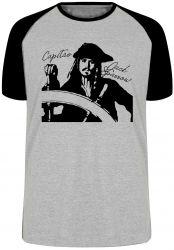 Camiseta Raglan Capitão Jack Sparrow