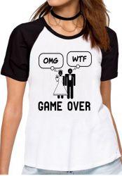 Blusa Feminina Casamento Game Over