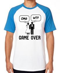 Camiseta Raglan Casamento Game Over