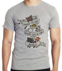 Camiseta Cat pet world