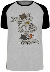 Camiseta Raglan Cat pet world