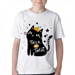 Camiseta Infantil Cat trick treat