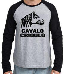 Camiseta Manga Longa  Cavalo Criolo grande