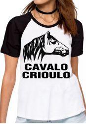 Blusa Feminina Cavalo Criolo grande