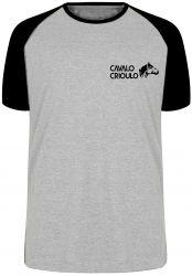 Camiseta Raglan Cavalo Criolo pequeno