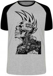 Camiseta Raglan Caveira Guetto Rules