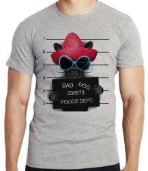 Camiseta Infantil Bad Dog cachorro cão Police Dept