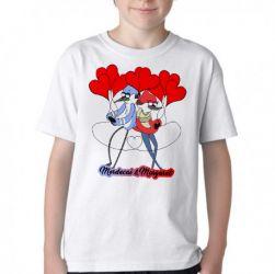 Camiseta Infantil Apenas show Mordecai e Margaret