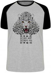Camiseta Raglan Animais Onça Pintada