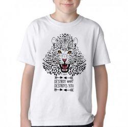 Camiseta Infantil Animais Onça Pintada