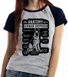 Blusa Feminina Anatomia Pastor Alemão