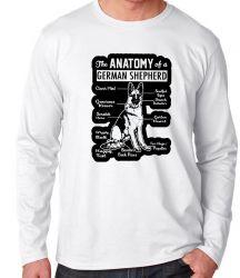 Camiseta Manga Longa Anatomia Pastor Alemão