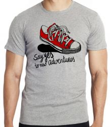 Camiseta All Star tenis Say Yes black