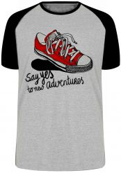 Camiseta Raglan All Star tenis Say Yes black