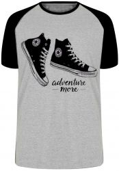 Camiseta Raglan All Star preto more adventure
