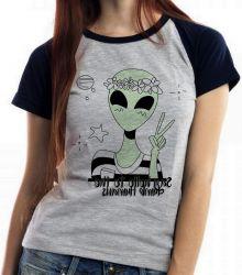 Blusa Feminina Alien say hello to the dumb humans