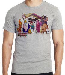 Camiseta Infantil  Adventure Time todos personagens