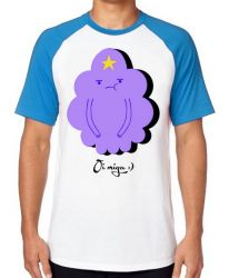 Camiseta Raglan  Adventure Time Princesa Caroço