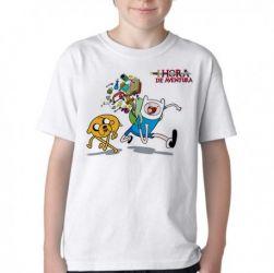 Camiseta Infantil  Adventure Time Jake Finn mochila