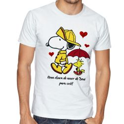 Camiseta  Chuva de Amor de Deus Snoopy
