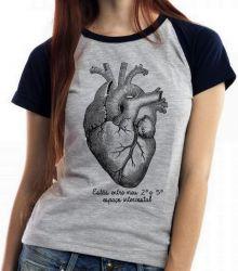 Blusa Feminina Coração Intercostal
