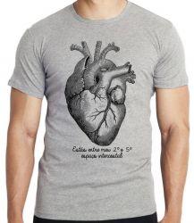 Camiseta  Coração Intercostal