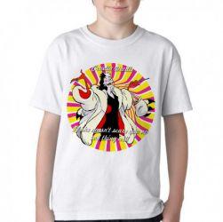 Camiseta Infantil Cruella Deville 101 dalmatas if she