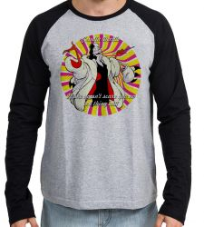 Camiseta Manga Longa Cruella Deville 101 dalmatas if she
