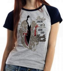 Blusa Feminina Cruella Deville Looking 101 dalmatas good