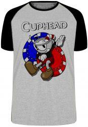Camiseta Raglan Cuphead game