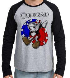 Camiseta Manga Longa  Cuphead game