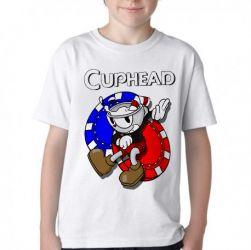 Camiseta Infantil  Cuphead game