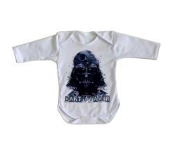 Roupa Bebê manga longa   Darth Vader Star Wars