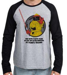 Camiseta Manga Longa De volta para o futuro Marty Darth vulcano