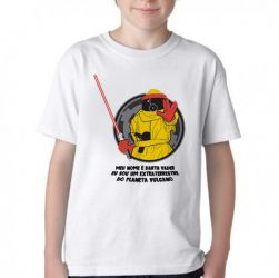 Camiseta Infantil De volta para o futuro Marty Darth vulcano