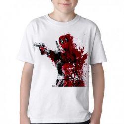 Camiseta Infantil Deadpool arma