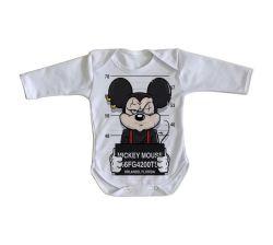 Roupa Bebê manga longa Mickey prisão