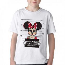 Camiseta Infantil Minnie prisão