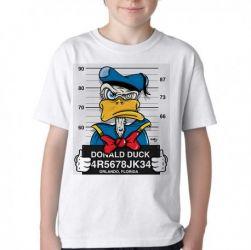 Camiseta Infantil  Donald prisão